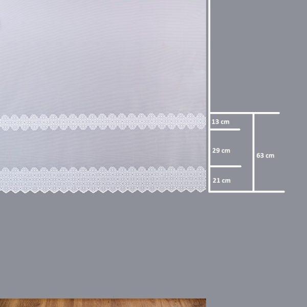 Firana 347840-2L /160- wymiary wzoru
