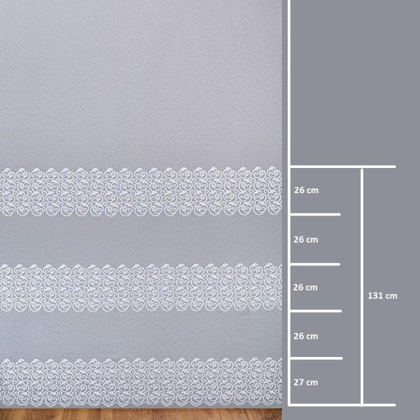 Firana BR 120079-3L /280- wymiary wzoru