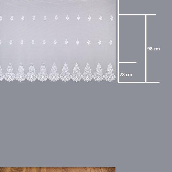 Firana 24755 /120/ wymiary wzoru