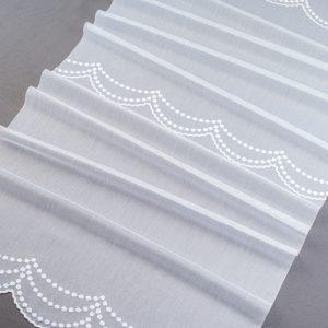 Firana P3 33842 /280/ kol. AFN-268 (biały z opalizującą nitką)