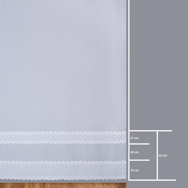 Firana 8636 /290/ wymiary wzoru