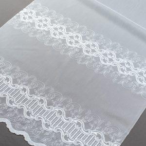 Firana 98587 /180/ haft biały