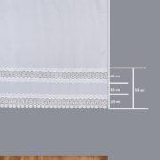 Firana 81498-2 /180/ wymiary wzoru