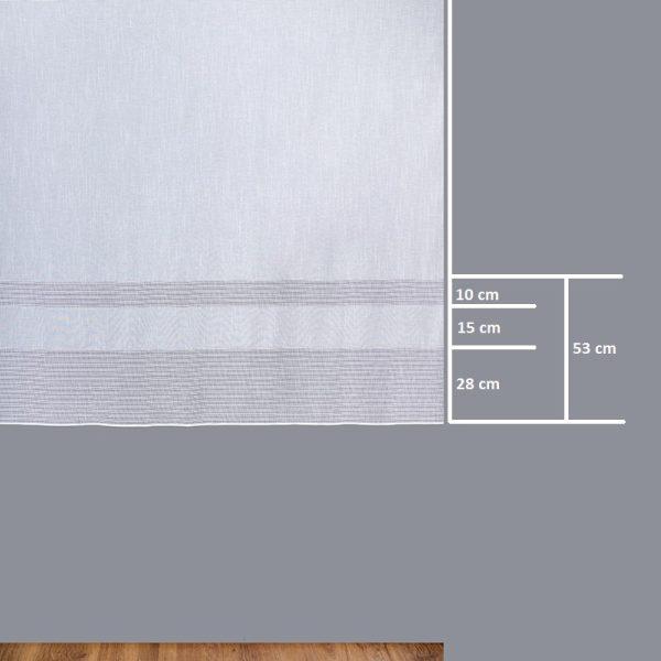 Firana 19431 A /160/ wymiary wzoru