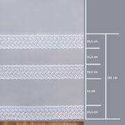 Firana 44024-3L /280/ wymiary wzoru