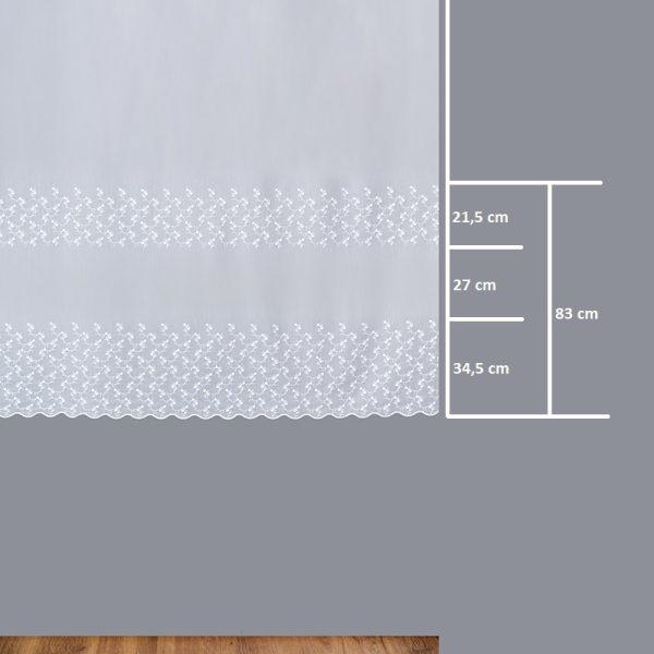 Firana 13656 /180/ wymiary wzoru