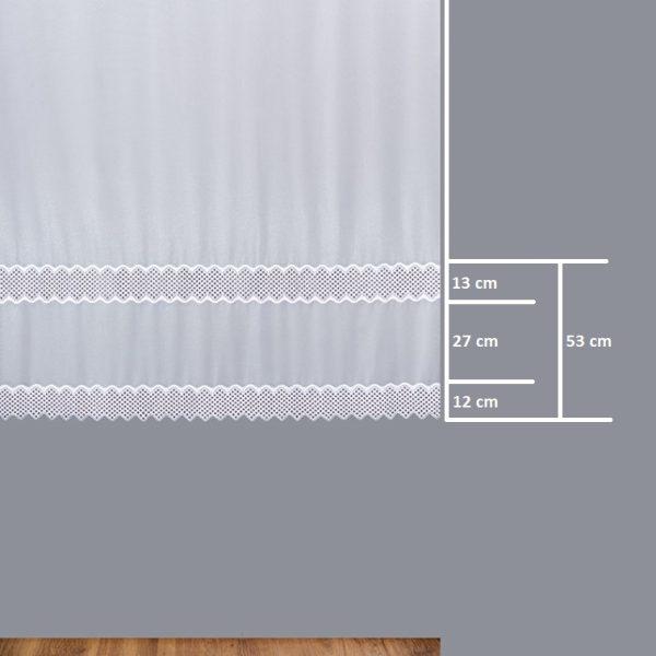 Firana 9355 /180/ wymiary wzoru