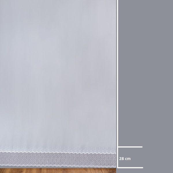Firana 9358-00 /280/ wymiary wzoru