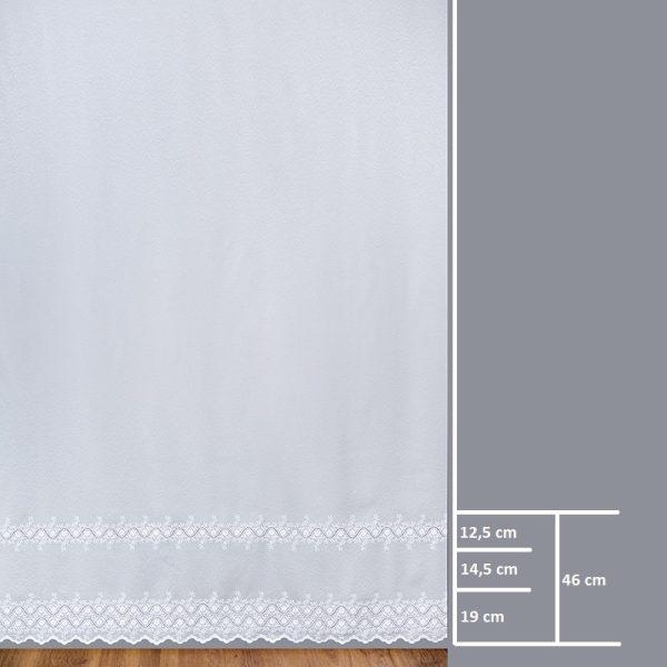 Firana 98673 /280/ wymiary wzoru