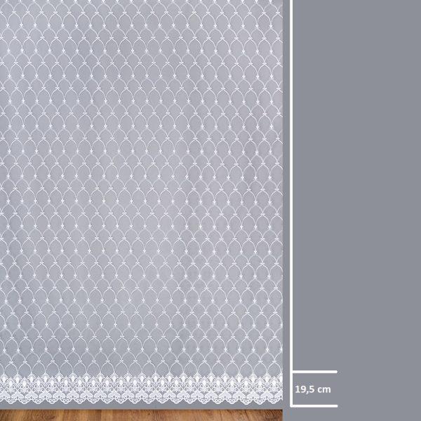 Firana 13644-00 /280/ wymiary wzoru