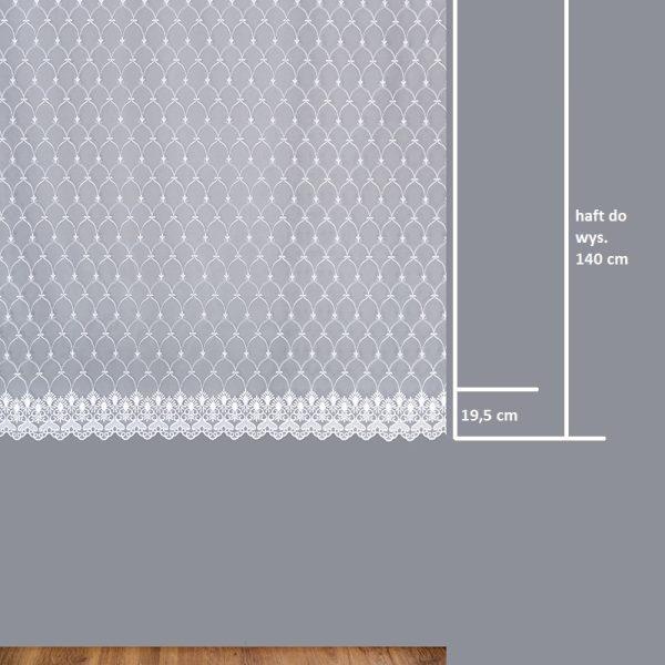 Firana 13645-01 /180/ wymiary wzoru