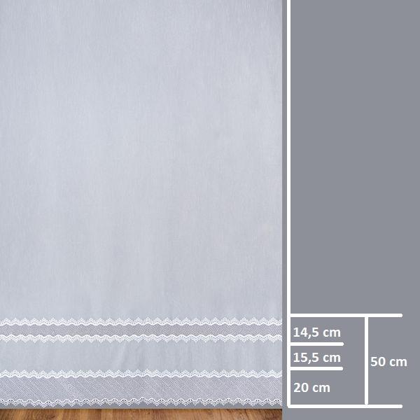 Firana 81557 /280/ wymiary wzoru