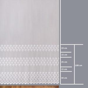 Firana 41405-3L /280/ wymiary wzoru
