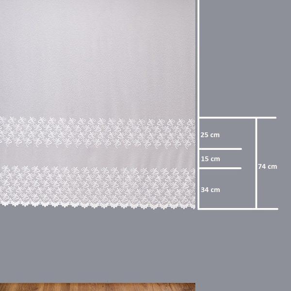 Firana 41405-2L /180/ wymiary wzoru