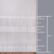 Firana 41822-3L /280/ wymiary wzoru